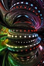 iPhone fondos de pantalla Diseño 3D, abstracto, bola, curvas