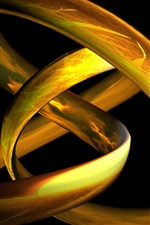 Preview iPhone wallpaper 3D gold woven lines
