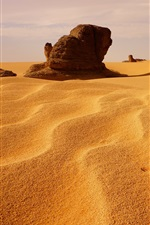 Preview iPhone wallpaper Algeria, dunes, desert, stones