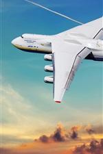 Preview iPhone wallpaper Antonov 225 plane, sky