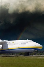 Preview iPhone wallpaper Antonov An-225 plane at airport