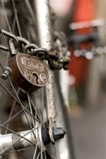 Bike, wheel, lock