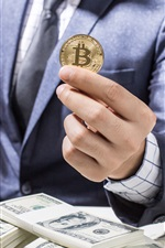 iPhone fondos de pantalla Bitcoin, dólares estadounidenses, dinero