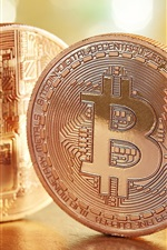Bitcoins, currency, glare