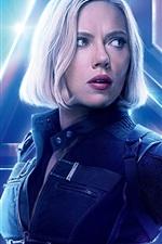 Preview iPhone wallpaper Black Widow, Avengers: Infinity War