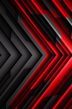 Preview iPhone wallpaper Black and red striped arrow, abstract