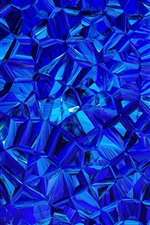 Preview iPhone wallpaper Blue prismatic, abstract picture