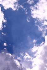 Preview iPhone wallpaper Blue sky, clouds, glare