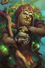 Preview iPhone wallpaper Bog Witch Emilia, Juggernaut Wars, toad, swamp