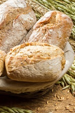 Preview iPhone wallpaper Bread, wheat, food