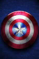 Preview iPhone wallpaper Captain America, shield