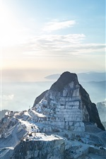 Preview iPhone wallpaper Carrara Marble Quarries, Italy, mountains