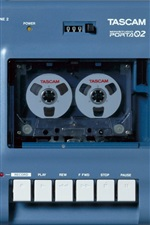 Preview iPhone wallpaper Cassette tape recorder, multi-channel recording