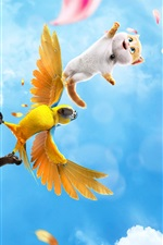Preview iPhone wallpaper Cats and Peachtopia, 2018 cartoon movie