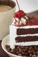 Preview iPhone wallpaper Chocolate cake, coffee, cup