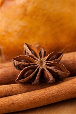 Preview iPhone wallpaper Cinnamon, star anise, spices