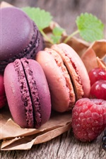 Preview iPhone wallpaper Colorful macaroon, currants, raspberry, blackberry