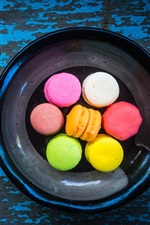 Colorful macaroon, dessert, cakes