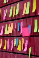 Preview iPhone wallpaper Colorful notes, wall