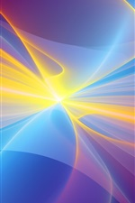 Preview iPhone wallpaper Colorful rays, glare, abstract picture