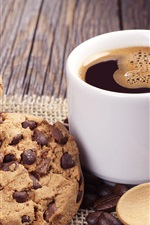 Preview iPhone wallpaper Cookies and coffee, cup