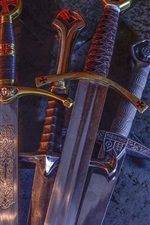 Preview iPhone wallpaper Crusader sword, blade