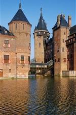 Preview iPhone wallpaper De Haar Castle, Netherlands, pond