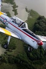 Preview iPhone wallpaper De Havilland DHC-1 Chipmunk, plane, fly