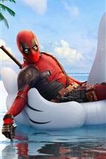 Vorschau des iPhone Hintergrundbilder Deadpool 2, weißer Schwan, Schwimmbecken
