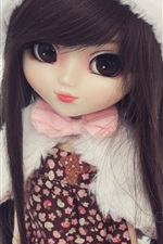 Preview iPhone wallpaper Doll girl, toy, hat, winter