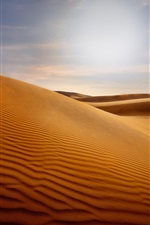 Preview iPhone wallpaper Dunes, desert, sand, sun