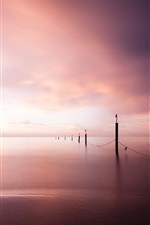 East Frisian, Lower Saxony, Germany, North sea, sunset