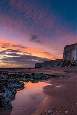 Preview iPhone wallpaper England, Botany Bay, sunrise, clouds, sea