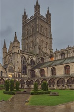 Preview iPhone wallpaper England, Gloucester Cathedral, dusk