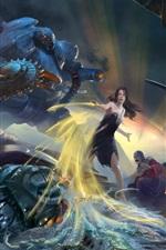 Preview iPhone wallpaper Fantasy girl, battle, war