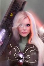 Preview iPhone wallpaper Fantasy girl, police
