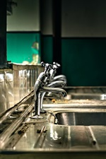Preview iPhone wallpaper Faucets, sink, metal