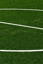 Preview iPhone wallpaper Football lawn