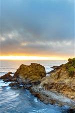 Fort Bragg, California, USA, sea, coast, sunset