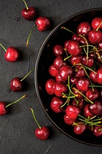 Preview iPhone wallpaper Fresh cherry, fruit photography