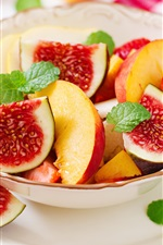 Preview iPhone wallpaper Fruit salad, figs, apples, strawberry