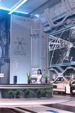 Future, hi-tech, robot, room, girls