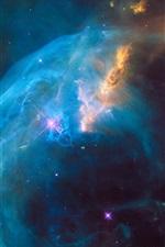 iPhone обои Галактика, туманность, звезды, космос, НАСА