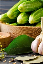 Preview iPhone wallpaper Garlic, cucumbers, beans