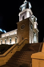 Preview iPhone wallpaper Geraldton, Australia, cathedral, night, lights
