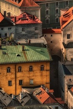 Preview iPhone wallpaper Germany, Bavaria, Passau, city, houses