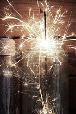 Preview iPhone wallpaper Glass cup, sparks, holiday