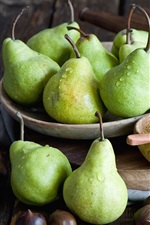 Preview iPhone wallpaper Green pears, sugar, nuts, honey