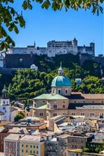 Hohensalzburg, castelo, salzburg, catedral, fortaleza, cidade, áustria