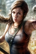 Preview iPhone wallpaper Lara Croft, Tomb Raider, video game